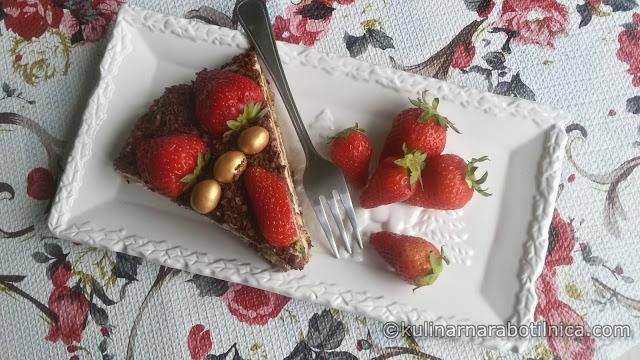 """Торта """"Fabbri"""" с кокосов крем, шоколад и ягоди"""