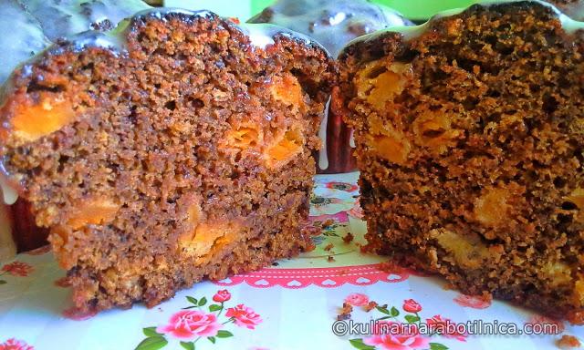 Шоколадови мъфини с тиква и бяла шоколадова глазура - рецепта