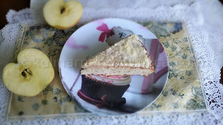 Рецепта за ябълков сладкиш с лимонова глазура и бадеми