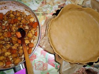 Рецепта за пай с тиква, ябълки и дюли
