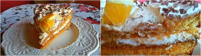 Портокалова торта със сметана и Дулсе де Лече - рецепта