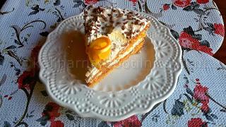 Рецепта за торта със сметана, портокал и Дулсе де Лече