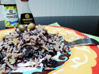 Императорски ориз с ориз басмати, гъби, праз и соев сос