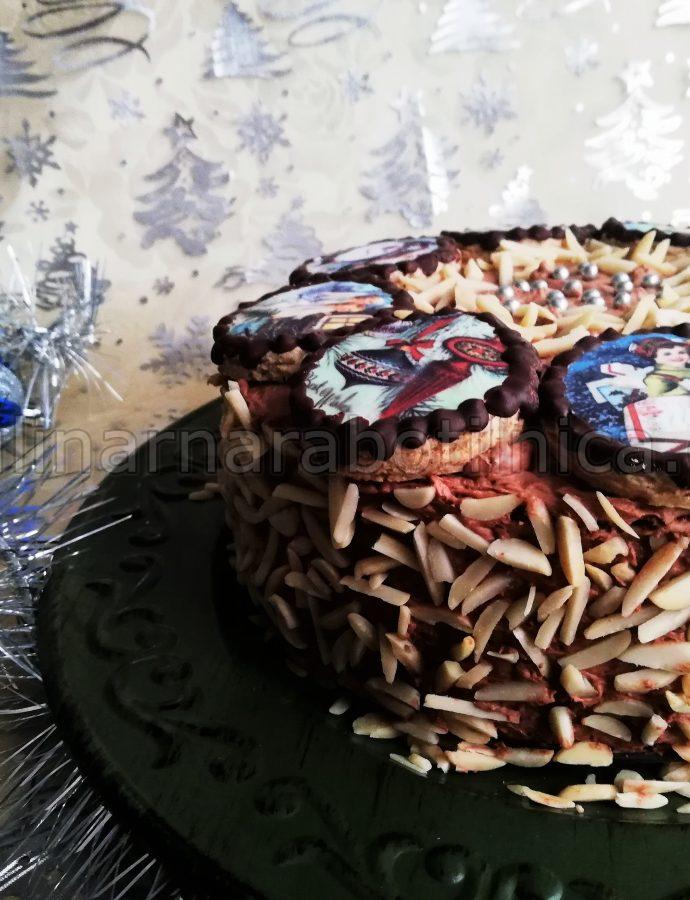 Коледна торта с маскарпоне и Дулсе де Лече
