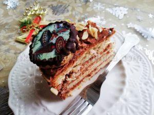 Рецепта за коледна торта с маскарпоне и Дулсе де Лече