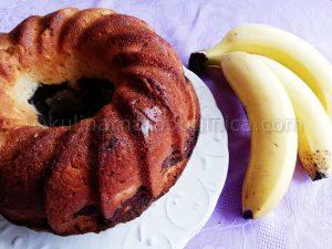 Бананов кекс с кисело мляко - рецепта