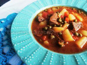 Телешка супа с картофи и грах - рецепта