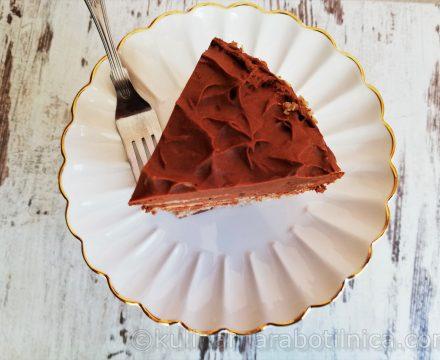 Безглутенова торта с шоколадов мус