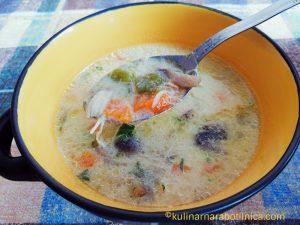 Пилешка супа със зеленчуци - рецепта
