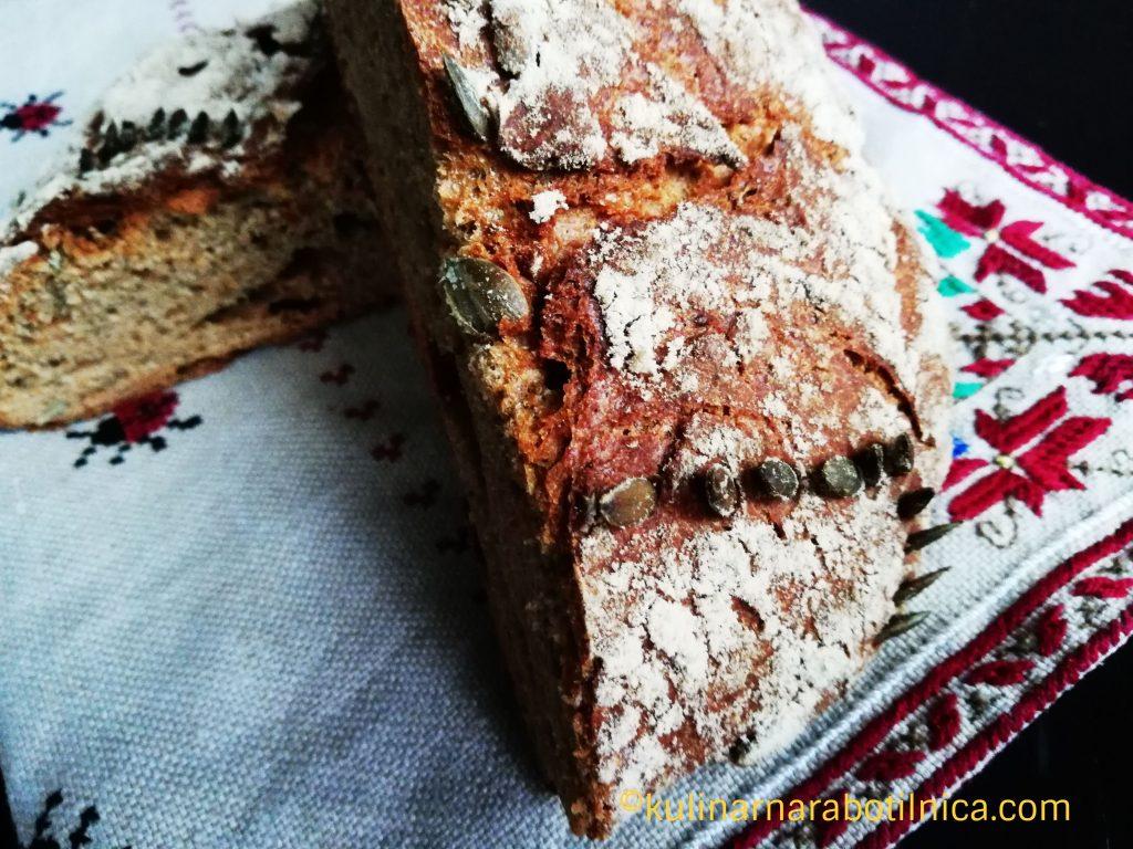 Рецепта за пълнозърнест хляб с лимец и чия