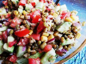 Свежа веган салата с боб мунг - рецепта