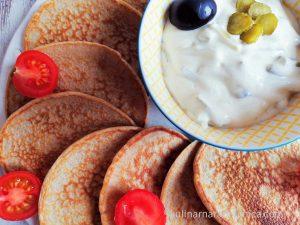 Палачинки с пълнозърнесто брашно и солена плънка