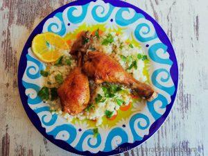 Рецепта за пилешки бутчета на фурна с кускус и лимон