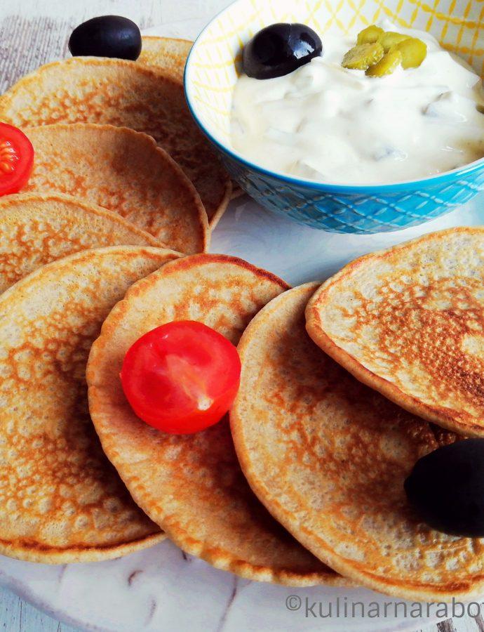 Солени палачинки с пълнозърнесто брашно