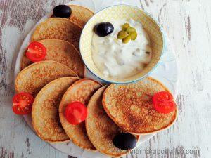 Солени палачинки с пълнозърнесто брашно - рецепта